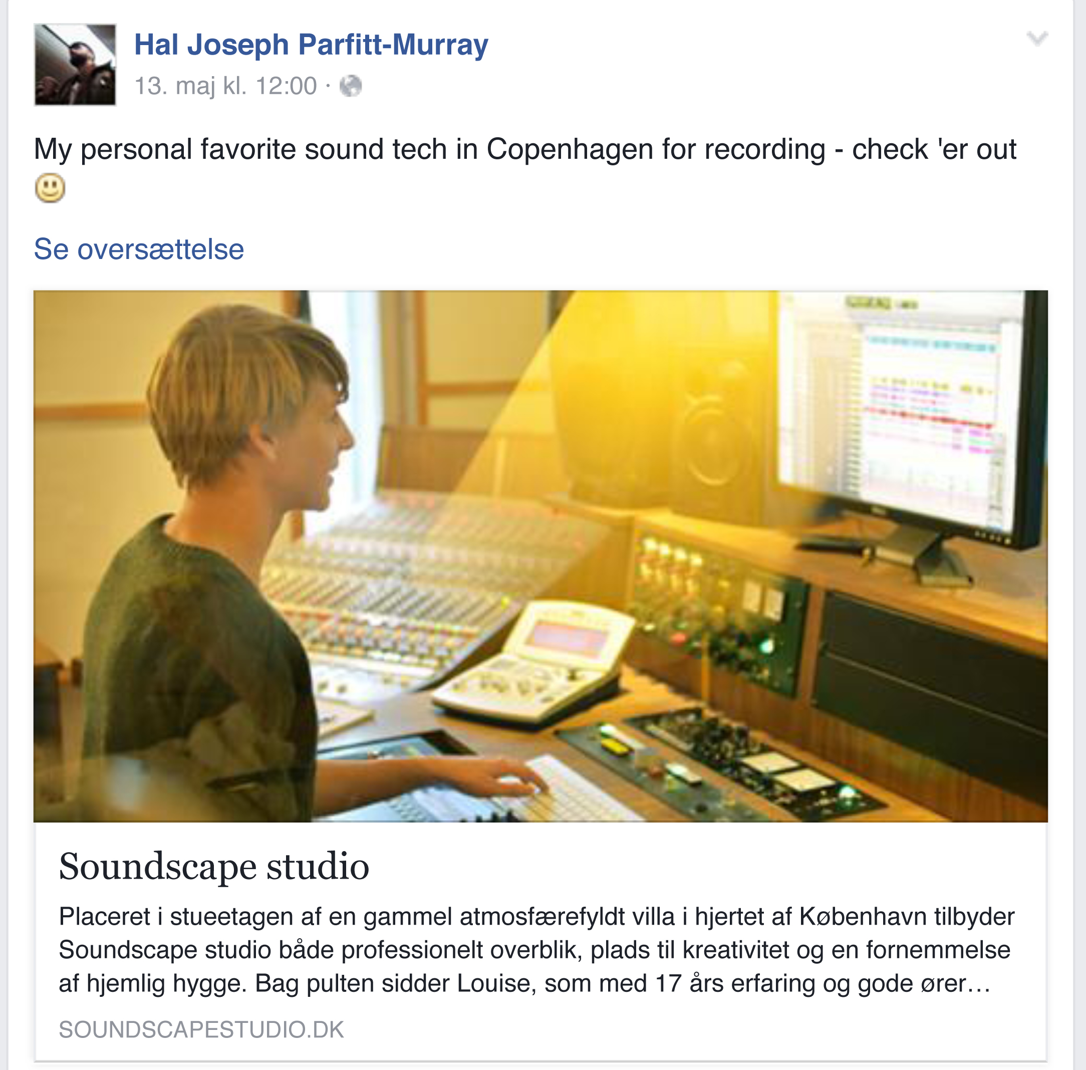 Hal Joseph Parfitt-Murray statement